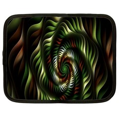Fractal Christmas Colors Christmas Netbook Case (xl)  by Sapixe
