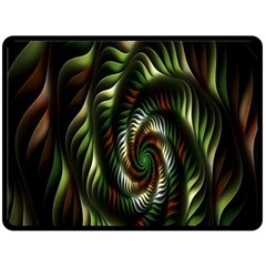 Fractal Christmas Colors Christmas Fleece Blanket (large)  by Sapixe
