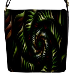 Fractal Christmas Colors Christmas Flap Messenger Bag (s) by Sapixe