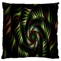 Fractal Christmas Colors Christmas Large Flano Cushion Case (one Side) by Sapixe