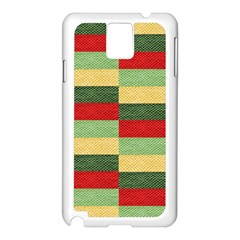 Fabric Coarse Texture Rough Red Samsung Galaxy Note 3 N9005 Case (white) by Sapixe