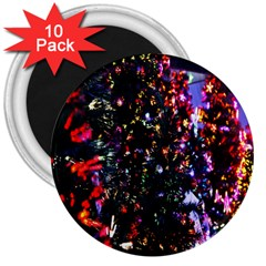 Abstract Background Celebration 3  Magnets (10 Pack)  by Sapixe