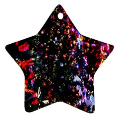 Abstract Background Celebration Star Ornament (two Sides) by Sapixe