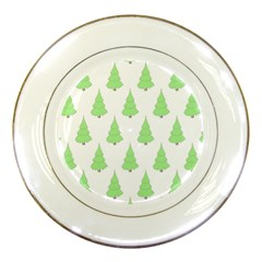 Background Christmas Christmas Tree Porcelain Plates by Sapixe