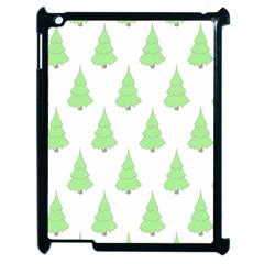 Background Christmas Christmas Tree Apple Ipad 2 Case (black) by Sapixe