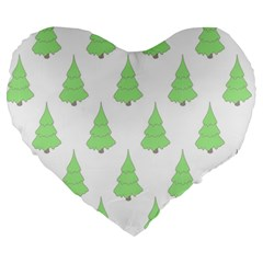 Background Christmas Christmas Tree Large 19  Premium Heart Shape Cushions by Sapixe