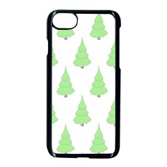 Background Christmas Christmas Tree Apple Iphone 8 Seamless Case (black)