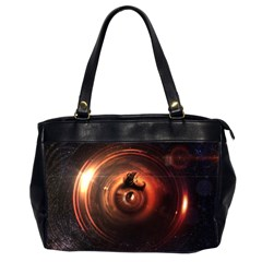 Steampunk Airship Sailing The Stars Of Deep Space Office Handbags (2 Sides)  by jayaprime