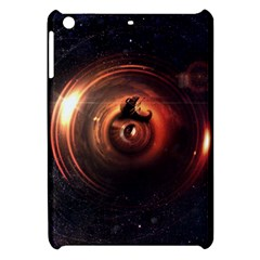 Steampunk Airship Sailing The Stars Of Deep Space Apple Ipad Mini Hardshell Case by jayaprime