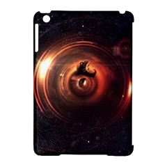 Steampunk Airship Sailing The Stars Of Deep Space Apple Ipad Mini Hardshell Case (compatible With Smart Cover) by jayaprime