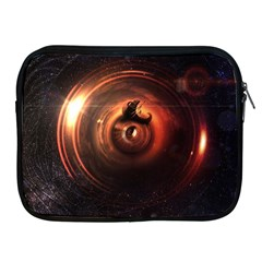 Steampunk Airship Sailing The Stars Of Deep Space Apple Ipad 2/3/4 Zipper Cases by jayaprime