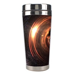 Steampunk Airship Sailing The Stars Of Deep Space Stainless Steel Travel Tumblers by jayaprime