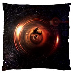 Steampunk Airship Sailing The Stars Of Deep Space Standard Flano Cushion Case (one Side) by jayaprime