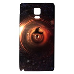 Steampunk Airship Sailing The Stars Of Deep Space Galaxy Note 4 Back Case by jayaprime