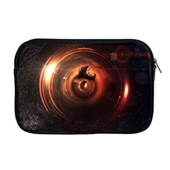 Steampunk Airship Sailing The Stars Of Deep Space Apple Macbook Pro 17  Zipper Case by jayaprime