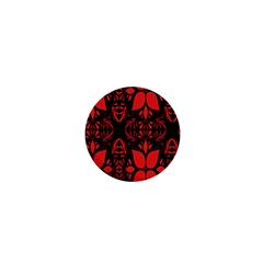 Christmas Red And Black Background 1  Mini Magnets