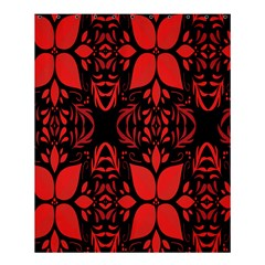 Christmas Red And Black Background Shower Curtain 60  X 72  (medium)  by Sapixe
