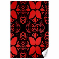 Christmas Red And Black Background Canvas 24  X 36  by Sapixe