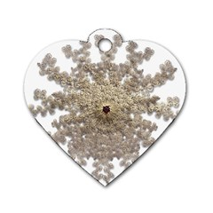 Gold Golden Gems Gemstones Ruby Dog Tag Heart (one Side) by Sapixe