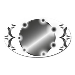 Metal Circle Background Ring Oval Magnet by Sapixe