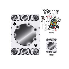 Metal Circle Background Ring Playing Cards 54 (mini)  by Sapixe