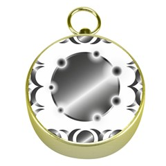 Metal Circle Background Ring Gold Compasses by Sapixe