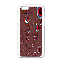 Mandelbrot Fractal Mathematics Art Apple Iphone 6/6s White Enamel Case by Sapixe