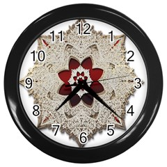 Jewelry Jewel Gems Gemstone Shine Wall Clocks (black) by Sapixe