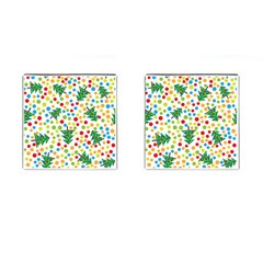 Pattern Circle Multi Color Cufflinks (square) by Sapixe