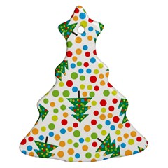 Pattern Circle Multi Color Christmas Tree Ornament (two Sides)