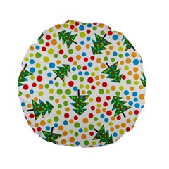 Pattern Circle Multi Color Standard 15  Premium Flano Round Cushions by Sapixe