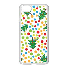 Pattern Circle Multi Color Apple Iphone 8 Seamless Case (white)