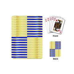 Metallic Gold Texture Playing Cards (mini)  by Sapixe