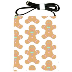 Pattern Christmas Biscuits Pastries Shoulder Sling Bags by Sapixe