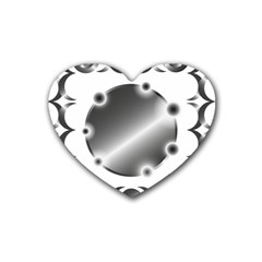 Metal Circle Background Ring Heart Coaster (4 Pack)  by Sapixe
