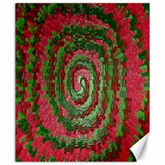 Red Green Swirl Twirl Colorful Canvas 20  X 24   by Sapixe