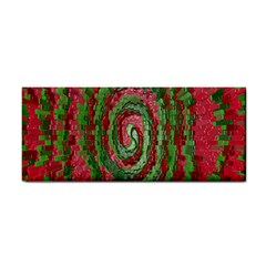 Red Green Swirl Twirl Colorful Cosmetic Storage Cases by Sapixe