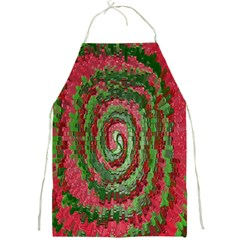 Red Green Swirl Twirl Colorful Full Print Aprons by Sapixe