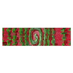 Red Green Swirl Twirl Colorful Satin Scarf (oblong) by Sapixe