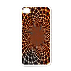 Pattern Texture Star Rings Apple Iphone 4 Case (white) by Sapixe