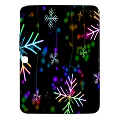 Snowflakes Snow Winter Christmas Samsung Galaxy Tab 3 (10 1 ) P5200 Hardshell Case  by Sapixe
