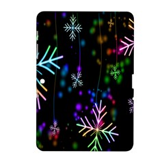 Snowflakes Snow Winter Christmas Samsung Galaxy Tab 2 (10 1 ) P5100 Hardshell Case  by Sapixe