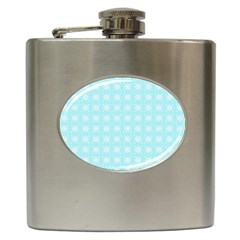 Snowflakes Paper Christmas Paper Hip Flask (6 Oz) by Sapixe