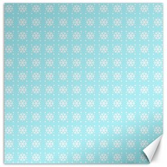 Snowflakes Paper Christmas Paper Canvas 16  X 16   by Sapixe