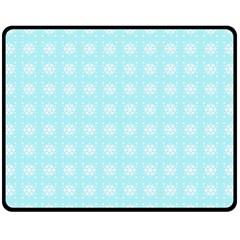 Snowflakes Paper Christmas Paper Fleece Blanket (medium)  by Sapixe