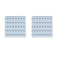Snowflakes Winter Christmas Card Cufflinks (square) by Sapixe