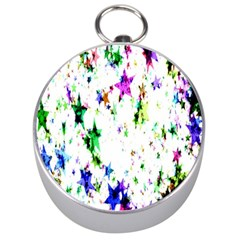 Star Abstract Advent Christmas Silver Compasses by Sapixe