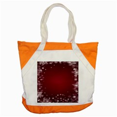 Star Background Christmas Red Accent Tote Bag by Sapixe