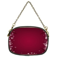 Star Background Christmas Red Chain Purses (one Side)  by Sapixe