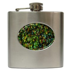 Star Abstract Advent Christmas Hip Flask (6 Oz) by Sapixe